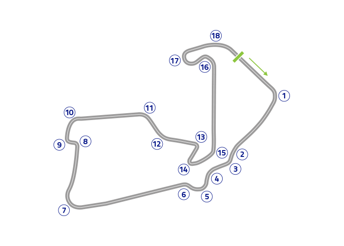 Grand Prix of Great Britain - Track map