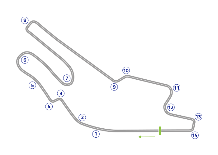 Grand Prix of France - Track map