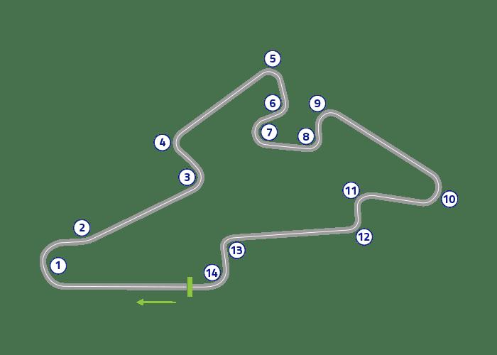 Grand Prix of Czech Republic - Track map